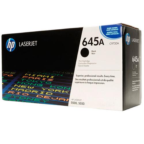 TONER HP C9730A (645A) L.J. 5500 NEGRO Color: Negro, Compatibilidad: HP LASERJET COLOR 5500/5500N/5550, Rendimiento: 13000 páginas.