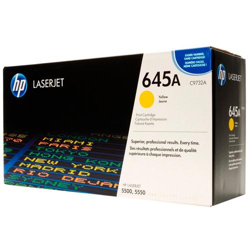 TONER HP C9732A (645A) L.J. 5500 YELLOW Color: Amarillo, Compatibilidad: HP LASERJET COLOR 5500/5500N/5550, Rendimiento: 12000 páginas.