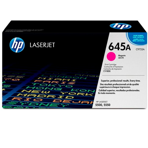 TONER HP C9733A (645A) L.J. 5500 MAGENTA Color: Magenta, Compatibilidad: HP LASERJET COLOR 5500/5500N/5550, Rendimiento: 12000 páginas.