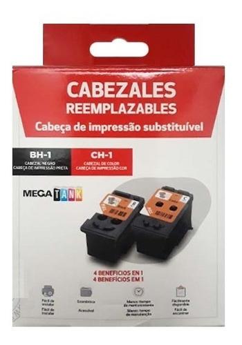PACK CABEZAL CANON BH-1 NEGRO + CH-1 COLOR PARA IMPRESORA CANON PIXMA G2100, G2101, G2110, G2111, G3100, 3101, G3110, G3111, G4100, G4110, G4111.