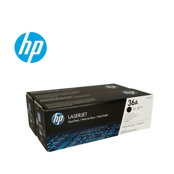 TONER HP CB436AD (36AD) L.J. P1505 (2 CB436A) Color: Negro, Compatibilidad: HP LASERJET P1505/P1505N/M1522N/M1522NF/M1120/M1120N, Rendimiento: 2000 páginas.
