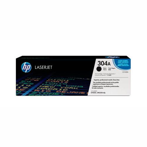 TONER HP CC530A (304A) L.J. CP2025 Color: Negro, Compatibilidad: HP LASERJET CP2025/CP2020/CM2320, Rendimiento: 3500 páginas.