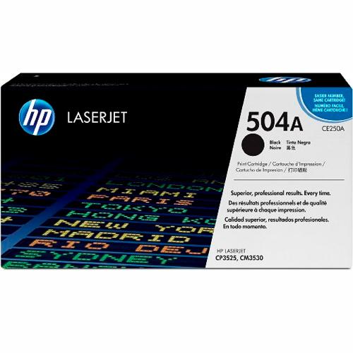 TONER HP CE250A (504A) L.J. CP3525 NEGRO 5000PG Color: Negro, Compatibilidad: HP LASERJET CP3525, Rendimiento: 5000 páginas.