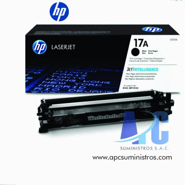 TONER HP CF217A (17A) Color: Negro, Compatibilidad: HP LaserJet Pro M102 series, HP LaserJet Pro MFP M130 series 1600 PAGINAS
