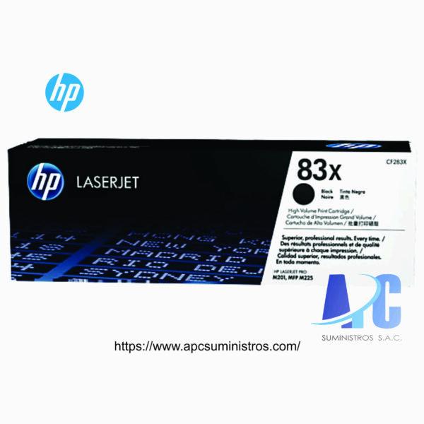 TONER HP CF283X (83X) COLOR: Negro, Rendimiento de la página (blanco y negro)2.200 páginas Compatibilidad M225DN / M225DW / M201N / M201DW