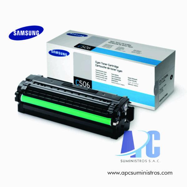 TONER SAMSUNG CLT-C506L (HP SU042A) Color: cyan compatibilidad:CLP-680ND, CLX-6260FD, CLX-6260FW Rendimiento: 3,500 PAGS
