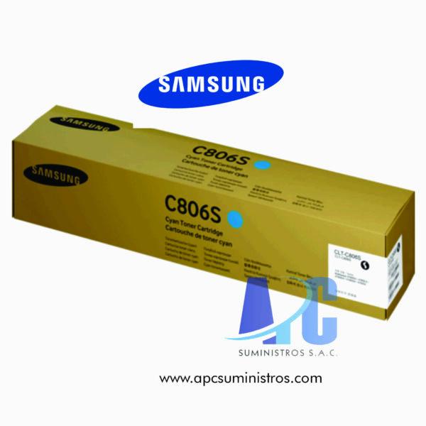 TONER SAMSUNG CLT-C806S (HP SS553A) CYAN 30K PAG Rendimiento: 30,000 páginas