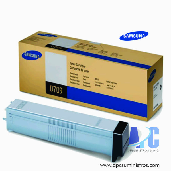 TONER SAMSUNG MLT-D709S (HP SS797A)Color: Negro, Compatibilidad: SCX-8123ND / 8123NA / 8128ND / 8128NA, Rendimiento: 25,000 PAGS, Dimensiones: 53.5 x 14.8 x 13.8 cm
