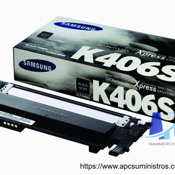 TONER SAMSUNG CLT-K406S (HP SU122A) Color: Negro, Rendimiento 1500 pág., Compatibilidad: CLP-360 /CLP-365 / CLX-3300 / CLX-3305