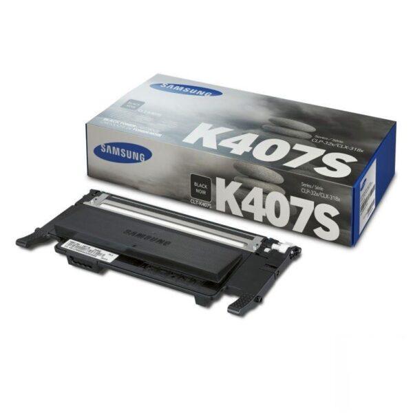 TONER SAMSUNG CLT-K407S (HP SU134A) Color: Negro, Rendimiento: 1500 pág., Compatibilidad: CLP-320/325, Serie CLX-3185.