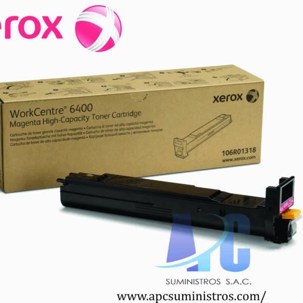 TONER XEROX 106R01318 Color: Magenta, Compatibilidad: Xerox WorkCentre 6400, Rendimiento: 16500 páginas.