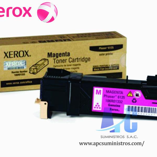 TONER XEROX 106R01336 Color: Magenta, Compatibilidad: Xerox Phaser 6125, Rendimiento: 1000 páginas
