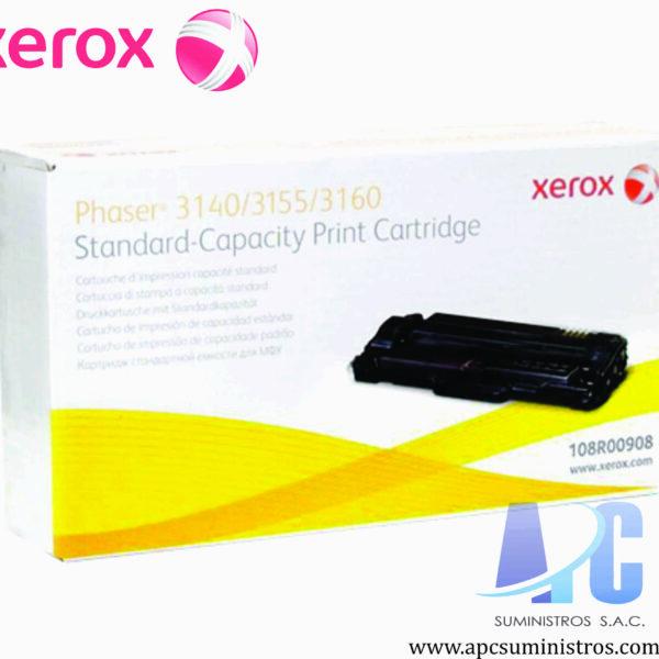 TONER XEROX 108R00908 Color: Negro, Compatibilidad: Xerox Phaser 3140/ 3160, Rendimiento: 1500 páginas