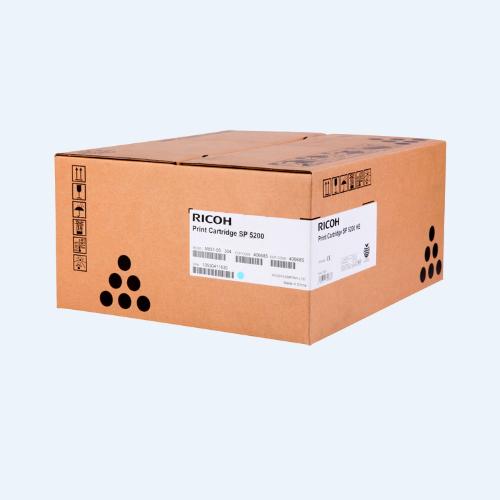 TONER RICOH 406683 Compatibilidad: Ricoh SP 5200/5210, Rendimiento: 19,000 Paginas, color negro.
