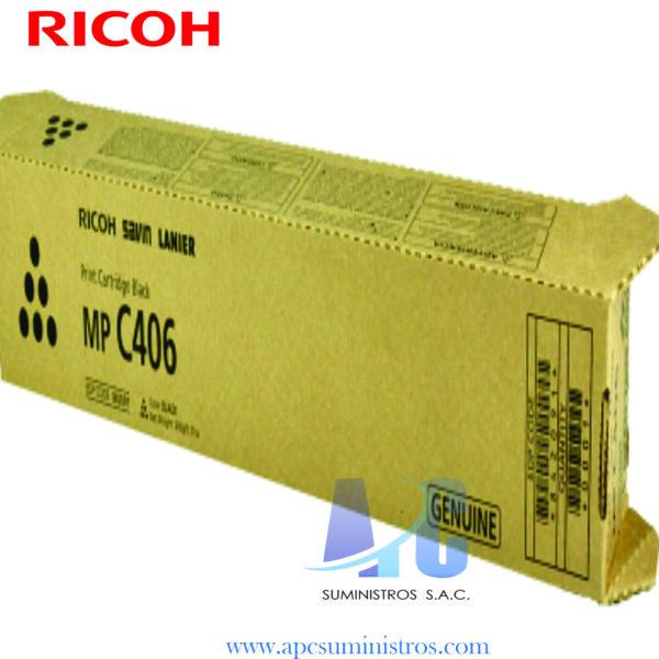 TONER RICOH 842091 MP C406 Compatibilidad: Ricoh MP C306/C307/C406/C407, Color Negro, Rendimiento: 17,000 Paginas