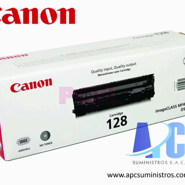 TONER CANON 128 Color: Negro, Compatibilidad: MF4450/ MF4570dn/ D550, Rendimiento: 2100 páginas.