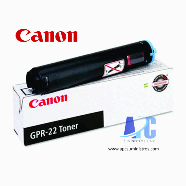 TONER CANON GPR-22 Color: Negro, Compatibilidad: IR 1018 / 1022 / 1023 / 1025 / iF1025 / N1025, Rendimiento: 8400 págs. Aprox.