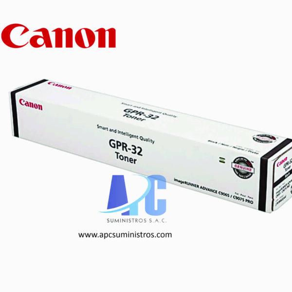 TONER CANON GPR-32 Rendimiento: 72,000. Color: Negro. Compatibilidad: C9075, C9065PRO