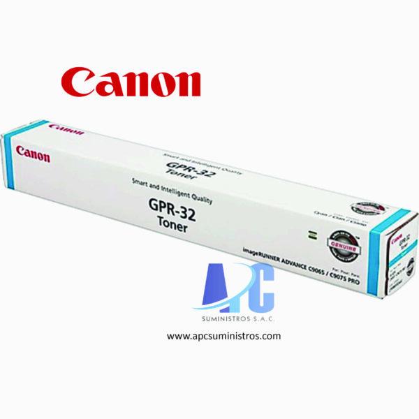 TONER CANON GPR-32 Rendimiento: 72,000. Color: Cian. Compatibilidad: C9075, C9065PRO