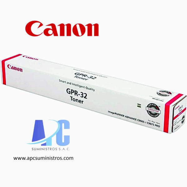 TONER CANON GPR-32 Rendimiento: 72,000. Color: Magenta. Compatibilidad: C9075, C9065PRO