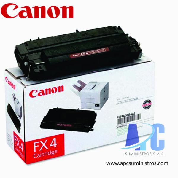 TONER CANON FX-4 Color: Negro, Compatibilidad:LASERCLASS 8500/ 9000/ 9500, Rendimiento: 4000 pág.
