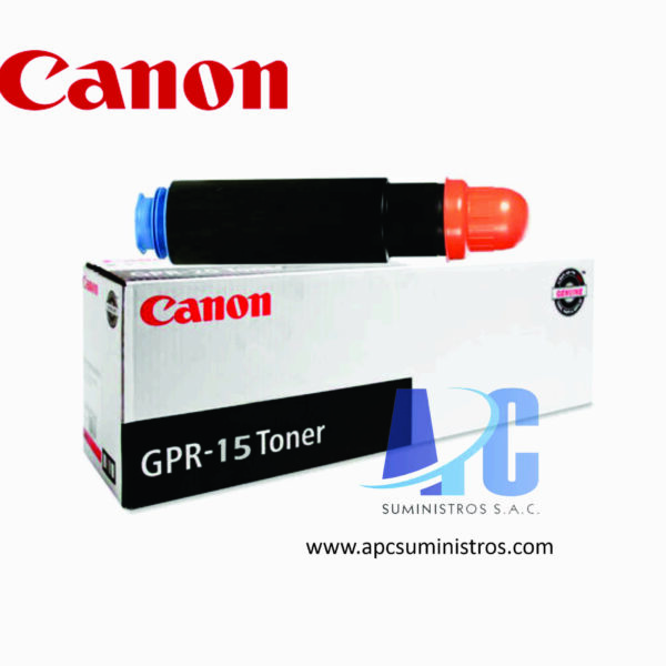 TONER CANON GPR-15 Color: Negro, Compatibilidad: IR 2830/2270/2230/3030/2870/3025/3225/3230, Rendimiento: 21,000 págs. aprox