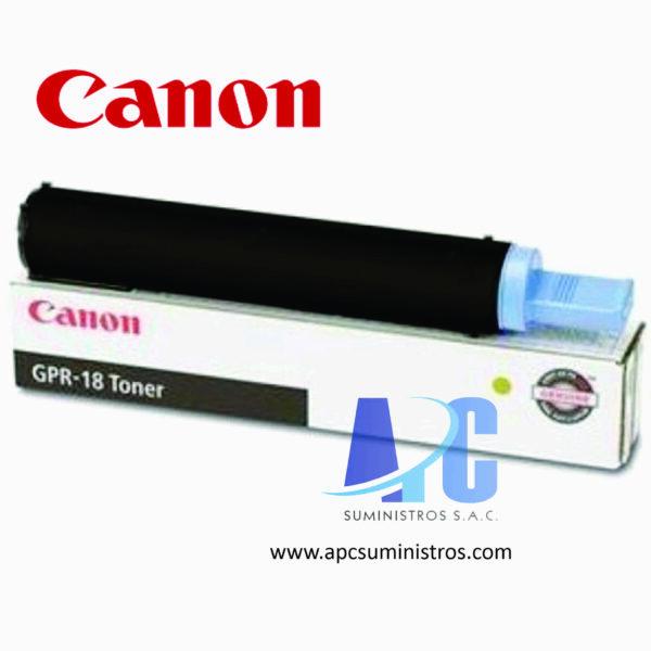 TONER CANON GPR-18 Color: Negro, Compatibilidad:IR2016/2018/2020, Rendimiento: 8000 págs. Aprox