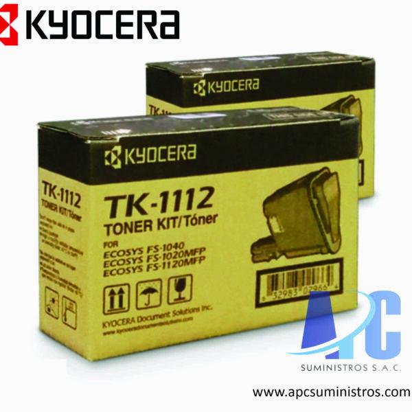 TONER KYOCERA TK-1112 Compatibilidad: Kyocera FS-1040, color negro Rendimiento: 2,500 Paginas de alta calidad