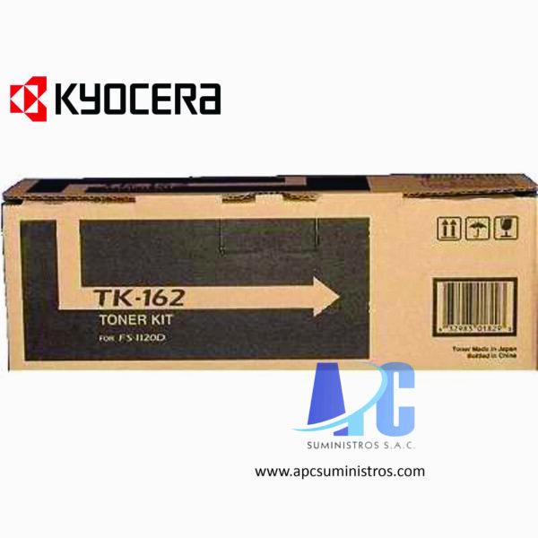 TONER KYOCERA TK-162 Color: Negro, Compatibilidad: Kyocera fs-1120d/ FS-1120D, Rendimiento: 2500 páginas.