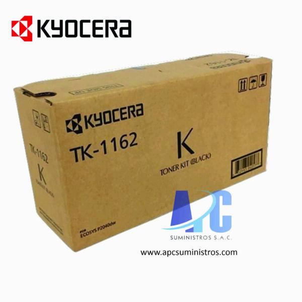 TONER KYOCERA TK-1162Color: Negro, Compatibilidad: kyocera ECOSYS P2040dw, Rendimiento: 7,200 páginas.
