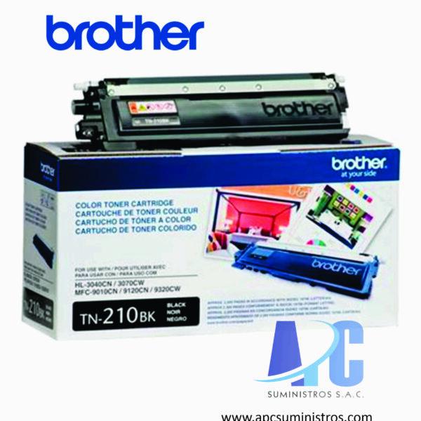 TONER BROTHER TN-210BK Color: Negro, Compatibilidad: HL-3040CN, HL-3070CW, MFC-9120CN. Rendimiento: 2,200 impresiones