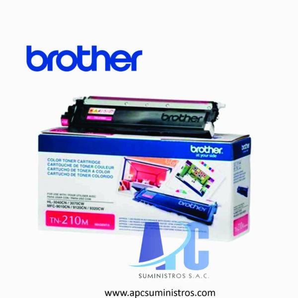 TONER BROTHER TN-210M Color: Magenta, Compatibilidad: HL-3040CN, HL-3070CW, MFC-9120CN. Rendimiento: 1,400 impresiones