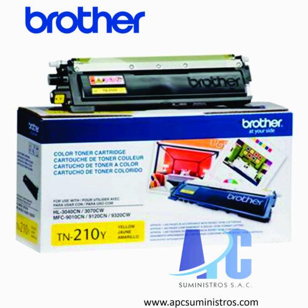 TONER BROTHER TN-210Y Color: Amarillo, Compatibilidad: HL-3040CN, HL-3070CW, MFC-9120CN. Rendimiento: 1,400 impresiones.