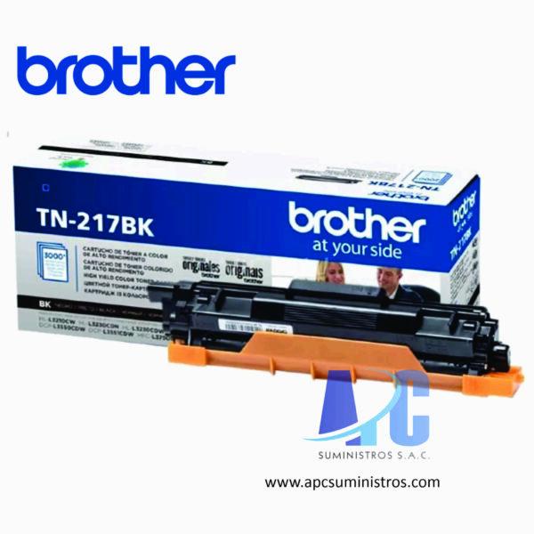 toner Brother TN-217BK color: Black, compatible para HL-L3270CDW, DCP-L3551CDW, MFC- L3750CDW, rendimiento 3000 Pagaginas