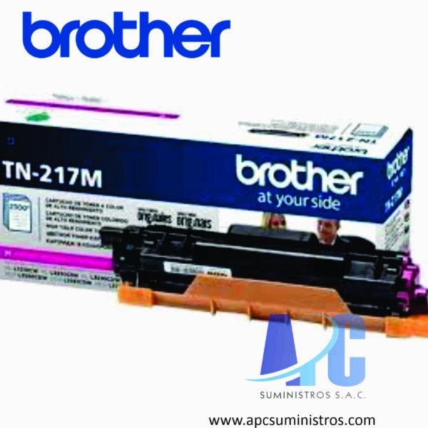TONER BROTHER TN-217M color Magenta, compatibilidad para HL-L3270CDW, DCP-L3551CDW, MFC- L3750CDW, rendimiento de 2300 Paginas