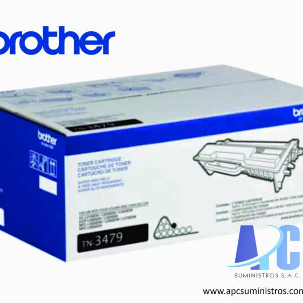 MULTIFUNCIONAL LASER BROTHER TONER TN-3479 compatibilidad DCPL5650DN con rendimiento de 1200 paginas de color negro
